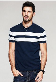 The term Polo shirt was originally used to describe the long sleeved, thick button down shirts used to play Polo. In the a tennis shirt embroidered with a polo player on it was the first of … Polo Shirt Style, Polo Shirt Design, Polo Shirt Outfits, Polo Outfit, Men's Outfits, Polo Design, Men Design, Custom Polo Shirts, Mens Polo T Shirts