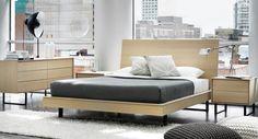 Chambre à coucher Ophelia de Mobican disponible chez #Meubles RE|NO. En chêne blanc mât / Mobican's Ophelia bedroom set in matte white oak #Ophelia #bedroom #mobican #MadeInQuebec #FaitAuQuebec #decor #design #bed #furniture
