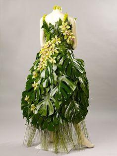 floral greenery dress [ VelvetEyewear.com ] #organic #luxury #style