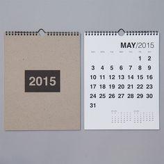 SALE. 2015 Bold Wall Calendar by REDSTARink on Etsy
