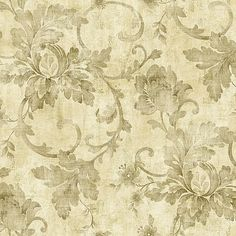 297-41008 Neutral Jacobean Trail - Fairwinds Studios Wallpaper