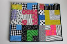 "Modern Baby Quilt ""William"" Contemporary Geometric Pattern in Bright Colors; Baby, Toddler, Child or Lap Quilt, Play Mat, Wall Hanging by iheartbabyquilts, $89.00"