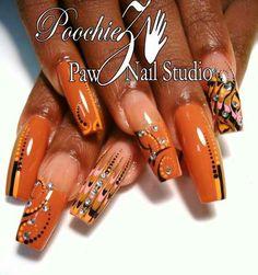 Orange, jewels,  swirl