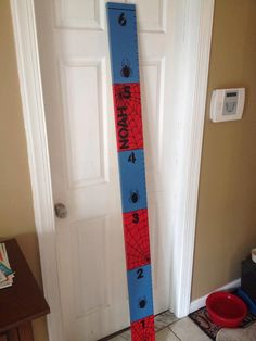 Spiderman Growth Chart by TheStarfishHouse on Etsy