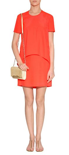 Simple and chic, Cédric Charlier's bright neon dress lends an elegant modern polish to day and evening looks alike #Stylebop