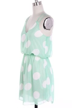 Lots of Dots Dress in Mint