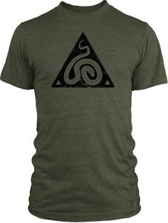 27e2916bb8ff1 Big Texas Snake Symbol (Black) Vintage Tri-Blend T-Shirt 50th