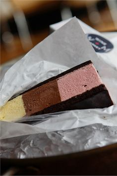 Neapolitan ice cream sandwiches