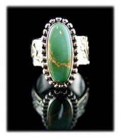 Green Cerrillos Turquoise Ring
