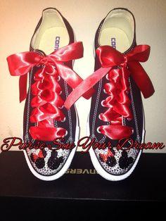 Crystal Rhinestone Custom Minnie & Mickey by PurseSueYourDream