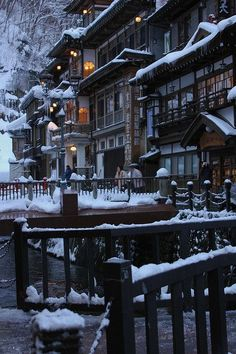 Ginzan Hot Springs, Yamagata, Japan