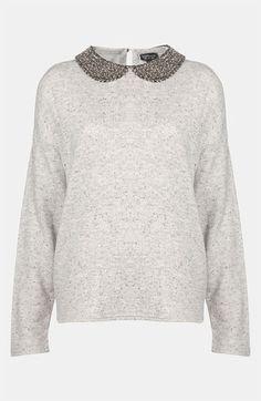 sweatshirt with peter pan collar