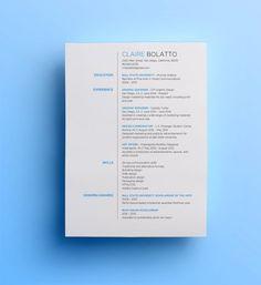 Minimalist Resume Template 4 Minimalist Resumes …  Pinteres…