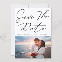 Shop Elegant Calligraphy Photo Wedding Save The Date Announcement Postcard created by MSJ_DESIGNS. Save The Date Invitations, Wedding Invitation Cards, Wedding Cards, Save The Date Photos, Save The Date Cards, Save The Date Templates, Event Flyer Templates, Simple Photo, Save The Date Magnets