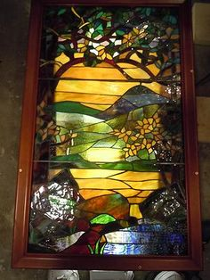 Beautiful Vintage Stained Glass Panel | eBay