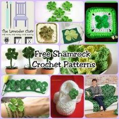 Free Shamrock Crochet Patterns - The Lavender Chair