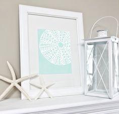 Ocean Set Art Print / Choose from 6 Sea Shell Designs / 8x10 / Digital Print Wall Art Poster. $15.00, via Etsy.