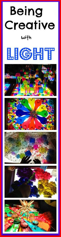 These creative light table play activities could be great for children with low vision or cortical visual impairment CVI