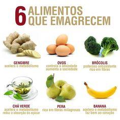 6 alimentos que emagrecem Mais