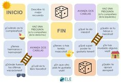 Juegos para hablar en clase de #ELE First Day Of Class, 1st Day Of School, Back To School, Spanish Language Learning, Teaching Spanish, Best Makeup Primer, Spanish Conversation, Reading Projects, English Resources