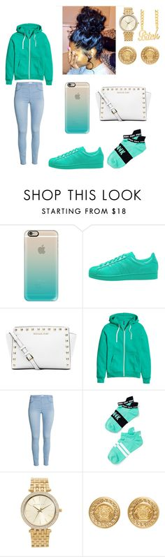 """"" by cchloe121813 ❤ liked on Polyvore featuring Casetify, adidas Originals, Michael Kors, H&M, Victoria's Secret and Versace"