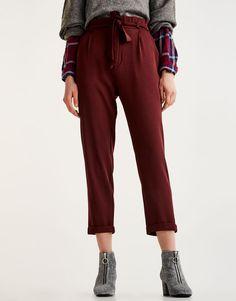 :Pantalon tailoring ceinture nouée
