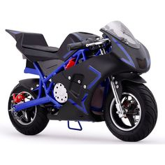 MotoTec Cali 36v Electric Pocket Bike - MT-EP-CALI_BLUE