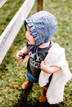 Handmade Ruffled Baby Bonnet | willowandhazel on Etsy