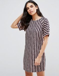 Buy it now. Girls On Film Textured Tunic Dress - Pink. Dress by Girls On Film, Lightweight woven fabric, Striped design, Round neck, Relaxed fit, Hand wash, 100% Polyester, Our model wears a UK 8/EU 36/US 4 and is 168cm/5'6 tall. ABOUT GIRLS ON FILM New babes on the block Girls On Film nail East London cool with their trend-heavy collection. Call off the search for your weekend look and slip on one of their sassy skort sets, cool crop tops or kimonos. , vestidoinformal, casual, camiseta…
