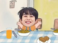 Cartoon Jokes, Cartoon Edits, Cute Cartoon, Kim Jung Woo, Kim Hongjoong, Nct 127, Fandom Kpop, Aesthetic Indie, Bts Wallpaper
