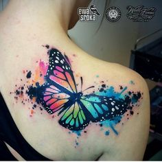 """Artist @ewasrokatattoo Poland #wctattoos #watercolourtattoos #watercolourtattoo…"