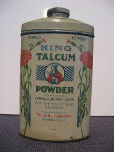 King Talcum Powder Tin | eBay