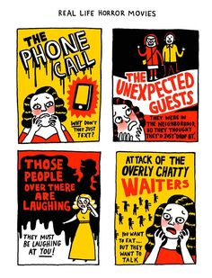 Due to her own battle with anxiety and depression, British cartoonist Gemma Correll made artwork using humor to portray what having these mental disorders feels like.
