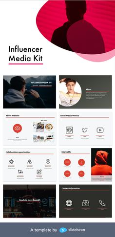Did your Instagram account become super popular all of a sudden? Have brands have started to approach you as a relatable figure for their customers? Maybe, even if you didn't want to, you became an influencer. Look professional with potential partners with this sleek presentation template, which covers all the basics of your social media persona!