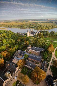Balloon over Chaumont sur Loire France