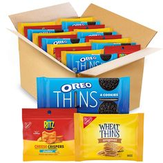 Sandwich Cookies, Oreo Cookies, Oreo Thins, Cheddar Potatoes, Oreo Flavors, Wheat Thins, Diabetic Snacks, Snack Box, Cheddar Cheese