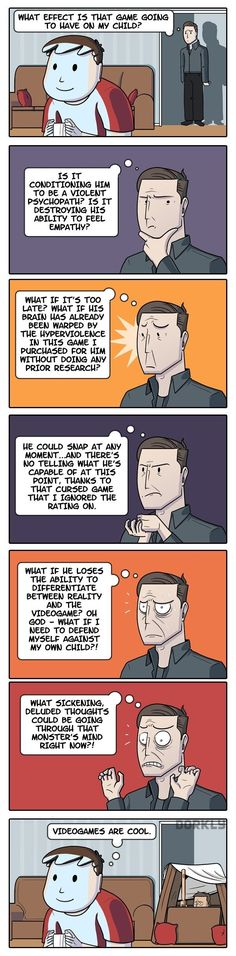 DORKLY COMIC: Parental Guidance in Video Games