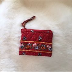 Vintage Vera Bradley Coin Purse In like new condition! This coin purse was given as a gift to me when I was a child and I don't think I ever used it! It is in the print Provincial Red which was introduced in 2000 and retired in 2003! OFFERS WELCOME :) Vera Bradley Bags Wallets
