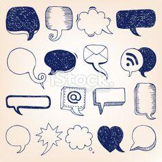 Hand-drawn speech bubble illustration Royalty Free Stock Vector Art Illustration