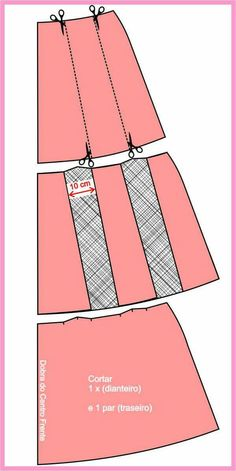 Skirt tutorial diy tuto jupe Ideas for 2019 Pleated Skirt Tutorial, Wrap Skirt Tutorial, Clothes Pin Wreath, Diy Clothes, Skirt Patterns Sewing, Clothing Patterns, Sewing Hacks, Sewing Tutorials, Techniques Couture