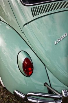 1966 Volkswagen Beetle Car Back End Fine Art by EyeShutterToThink
