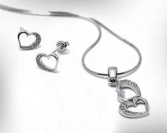 Bridal Jewelry Set Wedding 14k White Gold by nuritdesignjewelry