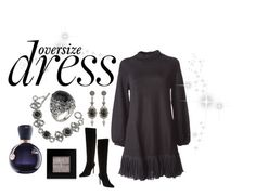 """""""Oversize Dress"""" by hartm-1 on Polyvore featuring Kenzo, Charles David, Lacoste, Konstantino, Bobbi Brown Cosmetics, holidaystyle and oversizeddress"""