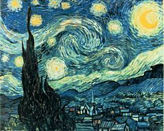 VanGogh_starry_night clip art di quadri_famosi