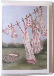 Gift Card-Single - Washing Day - Postage included Worldwide