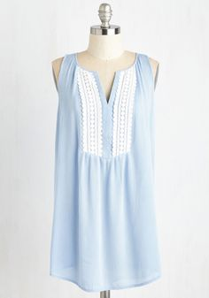 Faraway Fables Tunic. Be transported to place of whimsy by donning this powder blue tunic! #blue #modcloth