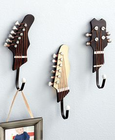 Home Decor Hooks, Rooms Home Decor, Wall Decor, Wall Accessories, Decorative Accessories, Guitar Wall Hooks, Guitar Wall Art, Guitar Painting, Decor Interior Design