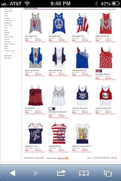 Cute clothes for girls from justice for 4th of july