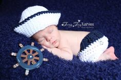 Crochet Sailor Outfit by TCSimplyChic on Etsy, $20.00