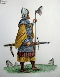 As Scots, they shared a common background and language with the Irish, but as they had intermarried with the century Norse settlers of Western Scotland, the Irish called them foreign Gaels. Renaissance, Irish Warrior, Scottish Warrior, Irish Clothing, Celtic Warriors, Celtic Culture, Landsknecht, Medieval Weapons, Knight Armor